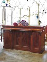 English Mahogany Sideboard with Arched Panels $2950