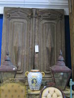 Antique Solid Wooden Panelled Doors $2950 pair