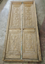 Solid Antique Doors with carved panels $4500.00 pair