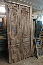 Classic Antique Doors with carved panels $4500.00 pair