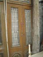 Pair of Doors with White Iron Grills