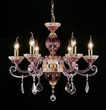 Cranberry Glass Chandelier With Fancy Cased Arms $2,500.00 2 available